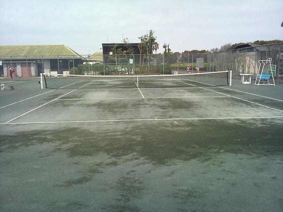 第二浄化センター雨の翌日の状態