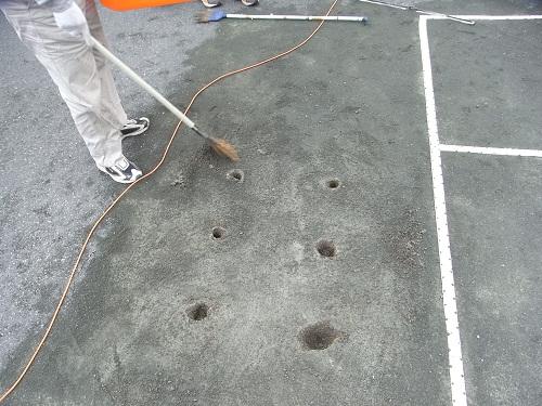 テニスコート修繕1112