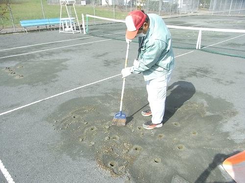 テニスコート修繕11122